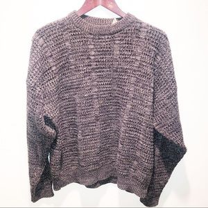 Vintage | Grandpa Oversized Cable Knit Sweater